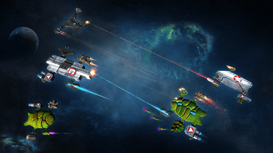 Space Battle Core   KORION Korion has been developing serious games and applied games for years   However  in    Space Battle Core    there is no real or historic background but  a