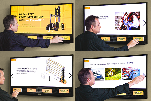 Storyboard for Yale's planned Break Free touchscreen experience
