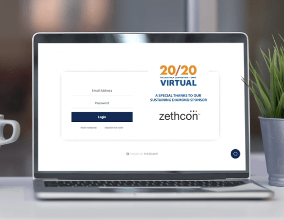 Image of IWLA login page with Zethcon's logo visible