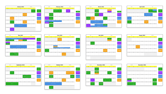 Downloadable content calendar template