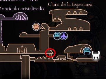 Devoraalmas Hollow Knight Localización Mapa