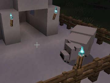 Fuego de Alma para nuestro Oso Polar en Minecraft