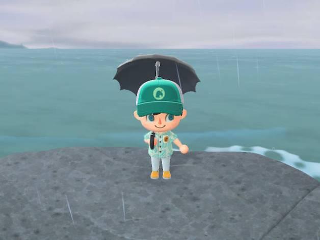 Lluvia en Animal Crossing New Horizons