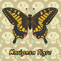 Mariposa Tigre en Animal Crossing New Horizons