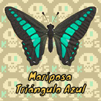 Mariposa Triángulo Azul en Animal Crossing New Horizons