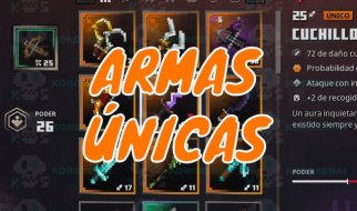 Armas Únicas en Minecraft Dungeons