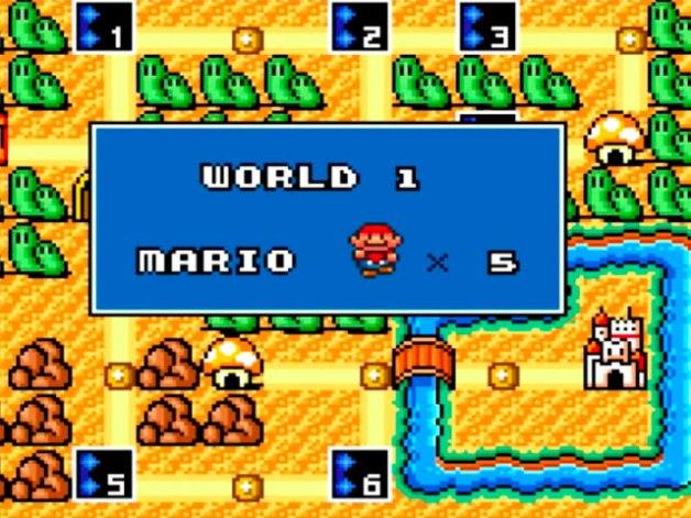 Mundo 1 en Super Mario Bros 3