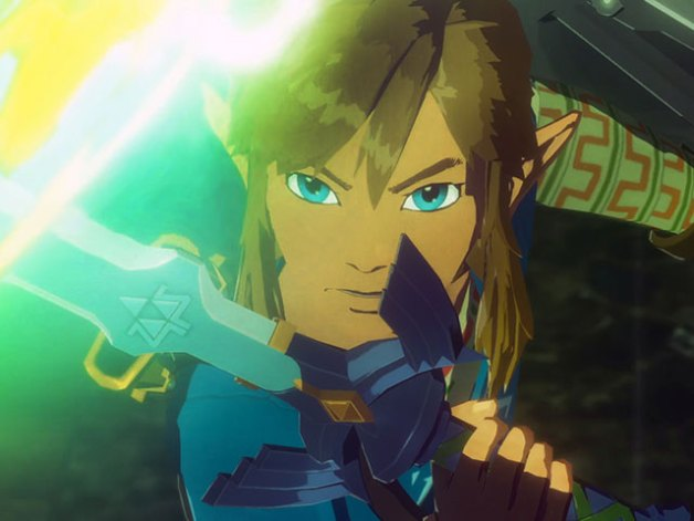 Link en Hyrule Warriors la Era del Cataclismo