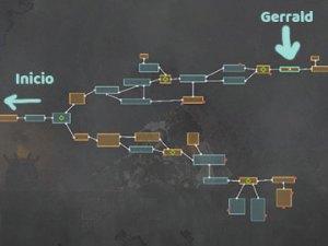 Mapa con la Localización del Veterano Gerrald