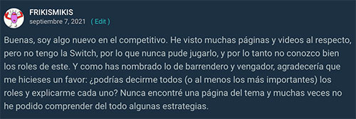 Comentario de Frikismikis sobre Pokémon Competitivo