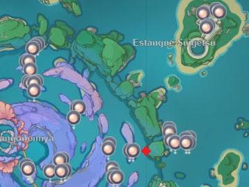 Localización en el Mapa de la Perla de Coral