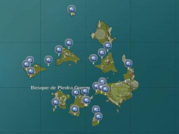 Localización de la Caracola Estelar en el Bosque de Piedra Guyun