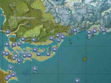 Localización de la Caracola Estelar en la Costa Yaoguang
