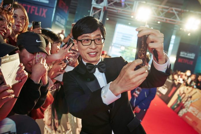 "SEOUL, KOREA - APRIL 30: Yoo Jae-suk at the red carpet fan event for the first Korean unscripted Netflix series, Busted! I Know Who You Are on April 30 in Seoul, Korea. (Photo by Jinyoung Kim, Hunwoo Jang for Netflix)</p><p><img class=""alignnone wp-image-12137 size-full"" src=""http://www.korseries.com/wp-content/uploads/2018/05/C0107437.jpg"" alt=""SEOUL, KOREA - APRIL 30: Yoo Jae-suk at the red carpet fan event for the first Korean unscripted Netflix series, Busted! I Know Who You Are on April 30 in Seoul, Korea. (Photo by Jinyoung Kim, Hunwoo Jang for Netflix"" width=""3000"" height=""2000"" /></p><hr />"