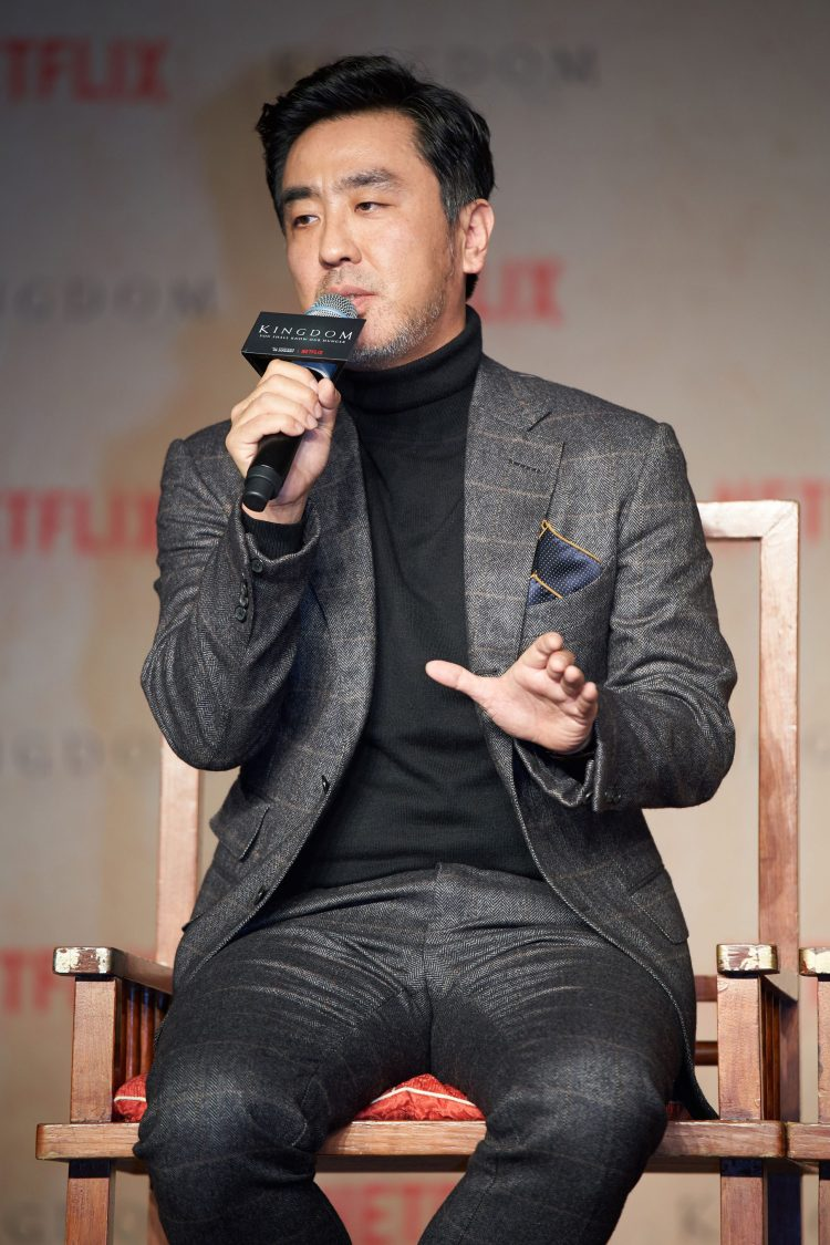 SEOUL, SOUTH KOREA - JANUARY 21: Ryu Seung-yong attends the Netflix 'Kingdom' press conference on January 21, 2019 in Seoul, South Korea. (Photo by Handout/Netflix via Getty Images)