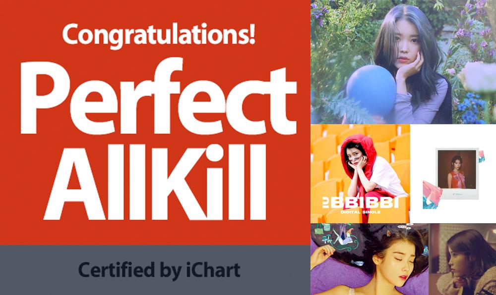 ศิลปินมากความสามารถ ไอยู กับสถิติชาร์ตเพลง PERFECT ALL-KILL ตลอดระยะเวลา 11 ปี