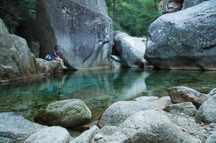 Korsika Purcaraccia canyon