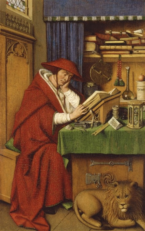 St Jerome in his study.