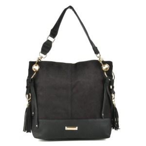Musta muotilaukku