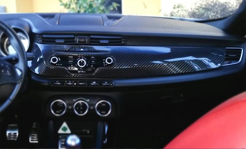 Carbon Alfa Romeo Giulietta dash cover | Koshi Group LLC