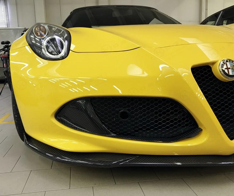 Carbon Fiber Alfa Romeo 4C Front Bumper Flaps