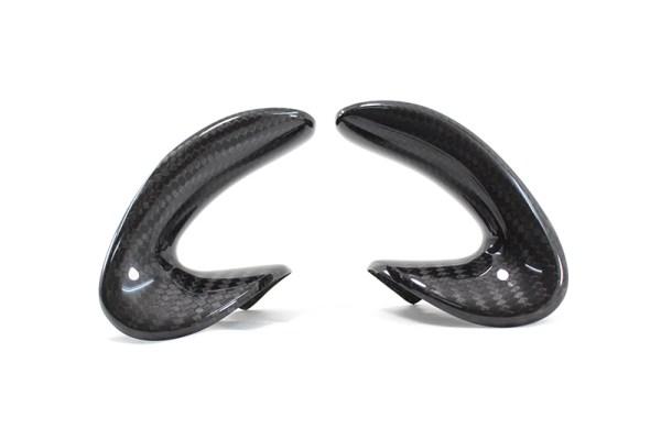 Carbon fiber Alfa Romeo 4C Steering WHEEl side covers trim