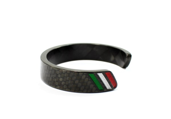 italian stripe carbon fiber bracelet jewerly moda