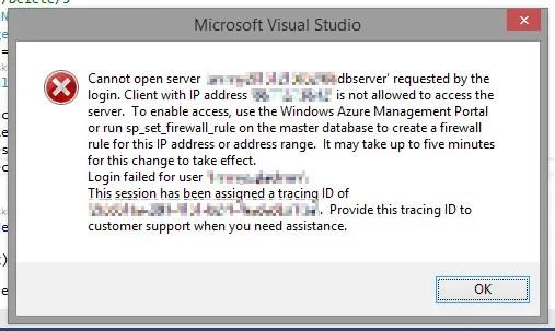 Azure SQL Error