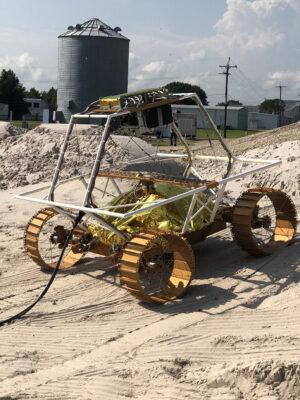 Inženýrský model pohybového systému roveru VIPER.