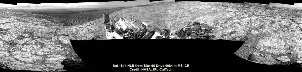 Lokalita Vera Rubin pohledem roveru Curiosity.