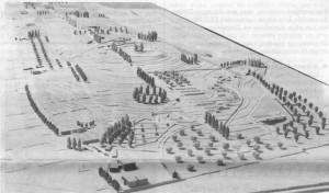 """Η μακέτα της """"ανάπλασης"""" του Δάσους όπως είχε δημοσιοποιηθεί το 1984..."""
