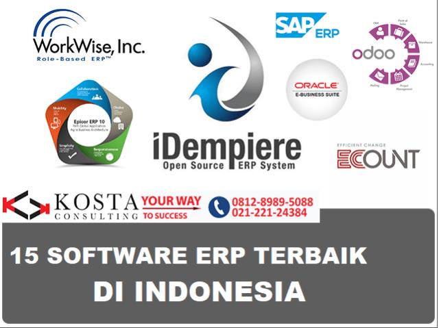 15 SOFTWARE ERP TERBAIK DI INDONESIA, ERP TERBAIK DI INDONESIA, HARGA SOFTWARE ERP, KONSULTAN ERP, ERP SOFTWARE INDONESIA