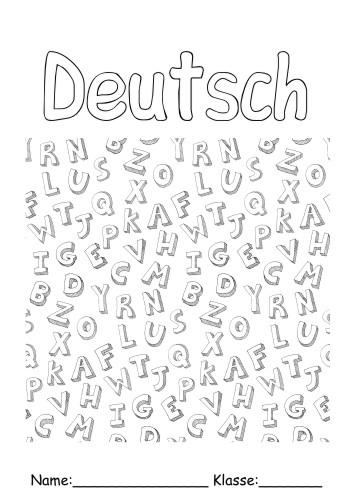 Deckbltter Deutsch 12 Deutsch Zum Ausmalen