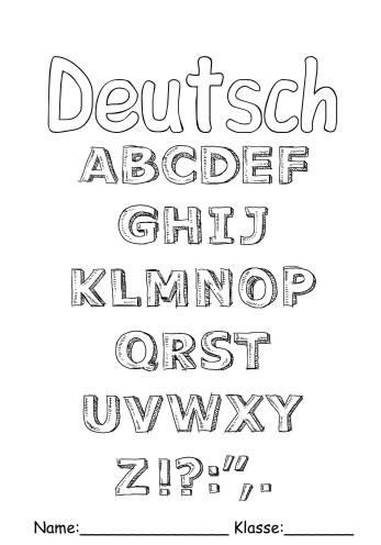 Deckbltter Deutsch 13 Deutsch Zum Ausmalen