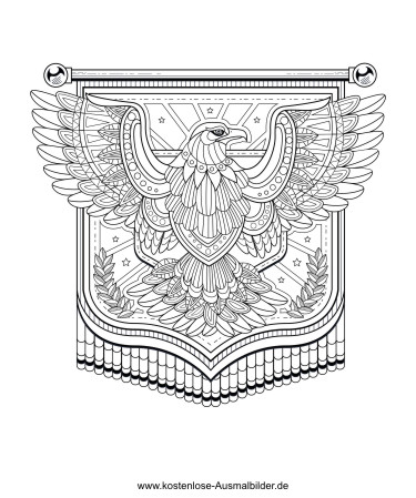 Adler Erwachsene Ausmalen Malvorlagen Tiere