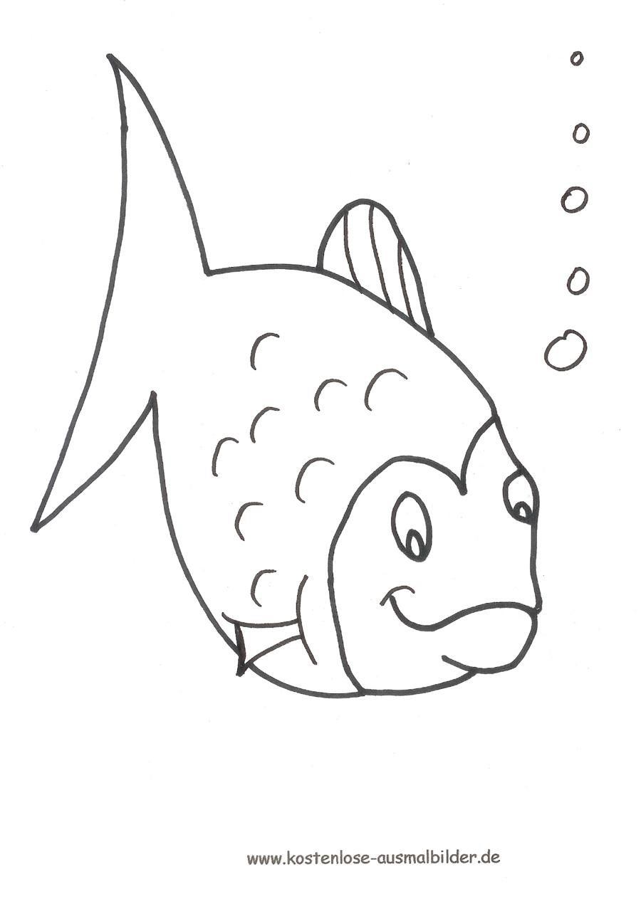 Ausmalbilder Ausmalfisch Tiere Zum Ausmalen