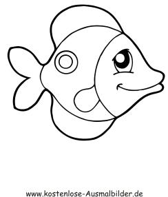 Ausmalbilder Lachender Fisch Tiere Zum Ausmalen