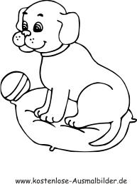 Ausmalbilder Hund Welpe Tiere Zum Ausmalen Malvorlagen