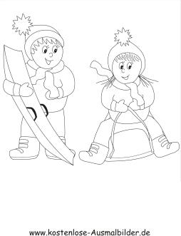 Ausmalbilder Snowboard Winter Zum Ausmalen Malvorlagen