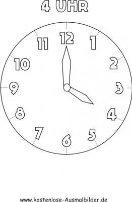 Malvorlagen Uhren Malvorlagen Uhren Ausmalen