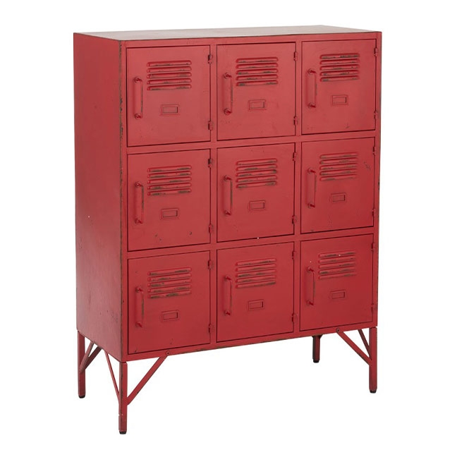armoire metal rouge kotecaz