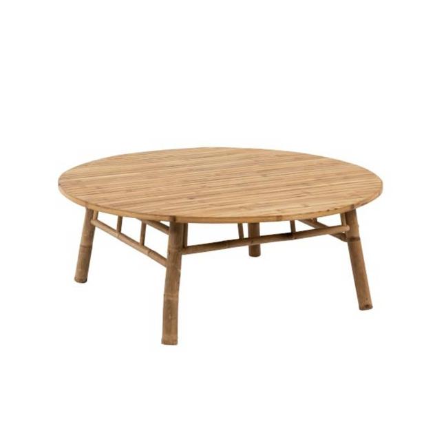 table basse ronde bambou diam 120 cm kotecaz