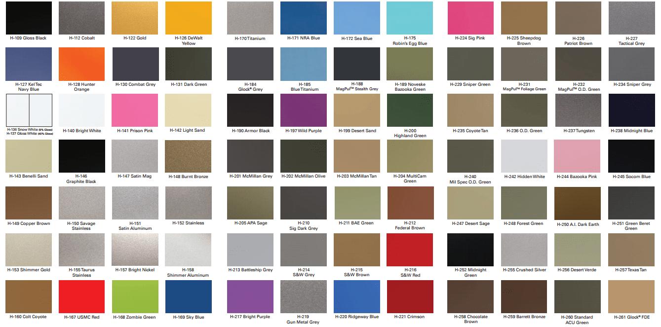 Colors kote of arms cerakote color chart nvjuhfo Images