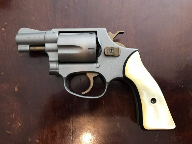 Cerakoted S&W Model 36 with pearl grips