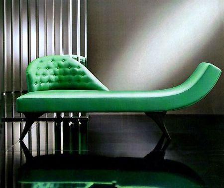 Green Velvet Chaise
