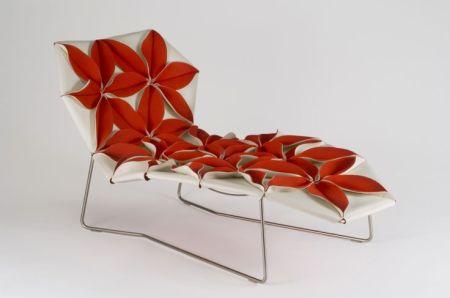 Red Silk Velvet Upholstery