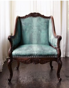 Turquoise Crocodile Faux Leather