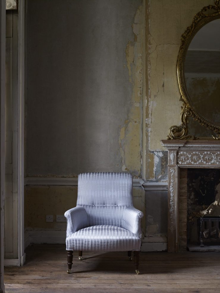 White Textured Upholstery on Contemporary Chair