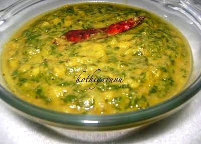Dal Palak Recipe – Cheera Parippuittathu Recipe