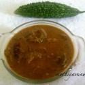 Pavakka/Kaypakka Theeyal /Bitter Gourd cooked in Roasted Coconut Gravy